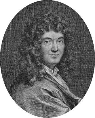 Claude Perrault - Engraved portrait of Perrault by Gérard Edelinck