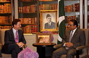 Nick Clegg with Asif Ali Zardari