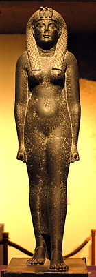 Cleopatra statue at Rosicrucian Egyptian Museum.jpg