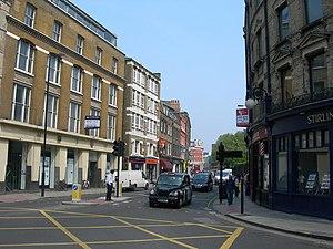 Clerkenwell Road - Clerkenwell Road, at the St John Street crossroads