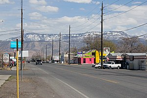 Clifton, Colorado - F Road (US Highway 6) in Clifton looking toward Grand Mesa.