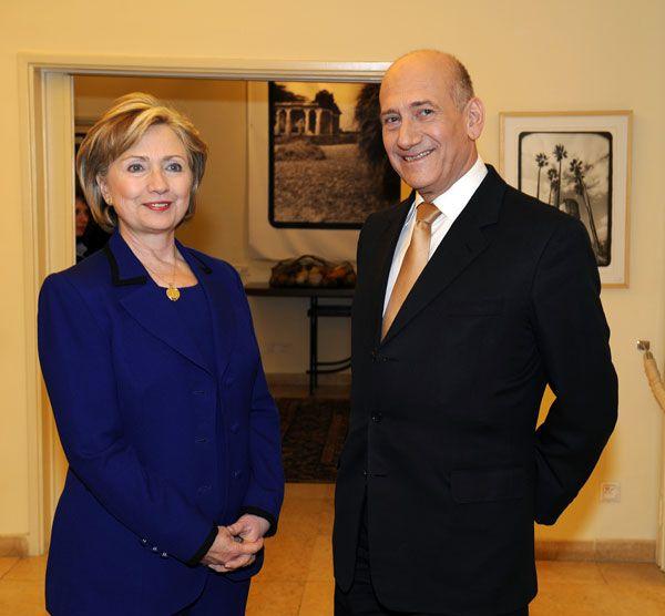 Clinton and Olmert 2009