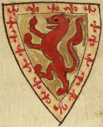 Royal Arms of Scotland - Arms of Alexander II, as shown in Matthew Paris' Historia Anglorum, c. 1250