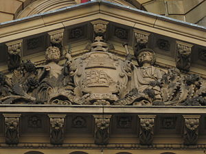 Sydney Town Hall - Image: Coat of arms of Sydney at Town Hall