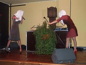 Cobra Killer - Annika Line Trost (left) and Gina V. D'Orio (right) performing at the Crane Lane Theatre in Cork City 16/03/08