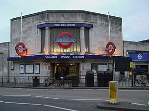 Colliers Wood tube station - The station entrance
