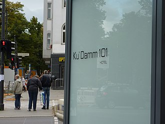 Kurfürstendamm - Colloquial abbreviation for Kurfürstendamm shown in name of the Ku'Damm 101 hotel