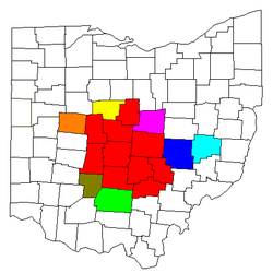 Map of Columbus Metro Area
