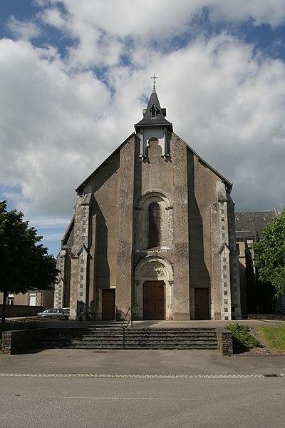 Église de la Sainte-Famille, cité ardoisière de Bel-Air à Combrée.