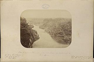A cañon do São Francisco justamente abaixo das cachoeiras de Paulo Affonso