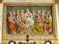 Commeny (95), église Saint-Martin, retable du chevet, panneau central - la Pentecôte b.JPG