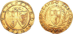 Commonwealth of England - A gold Unite from 1653