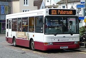 Compass Travel - Plaxton Pointer bodied Dennis Dart SLF in Horsham in April 2009