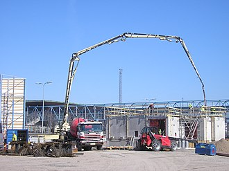 Sany - A Putzmeister concrete pump in operation