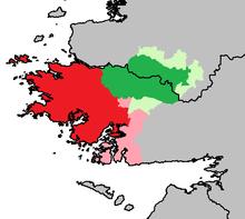 L Adieu Au Connemara Le Connemara est indiqué en rouge, la partie rose indiquant son ...