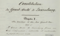 Constitution GD Luxembourg revisée 1868-10-17 Excerpt Title and Article 1.tiff