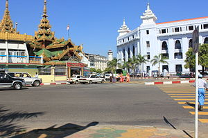Corner of Sule Pagoda & City Hall