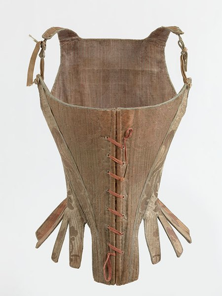 Fichier:Corset, 1770-1790. MoMu - Fashion Museum Province of Antwerp, www.momu.be. Photo by Hugo Maertens, Bruges..jpg