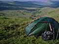 Cosy camp below north side of ridge. - geograph.org.uk - 1914762.jpg