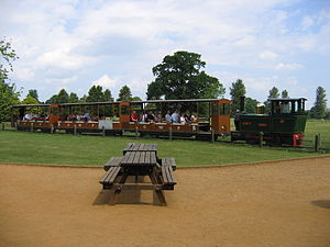 Cotswold Wildlife Park - A small train taking visitors around the grounds