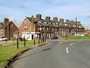 Middlecliffe - A row of houses in Middlecliffe