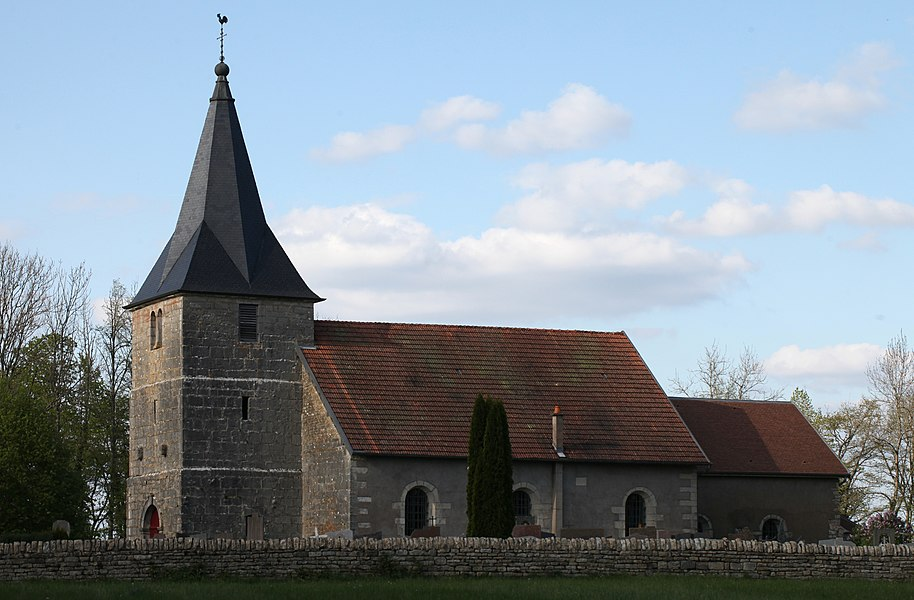 Eglise de Mont-sur-Lison à Courcelles-les-Quingey (Doubs).