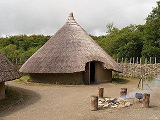 Craggaunowen open-air museum in County Clare, Ireland