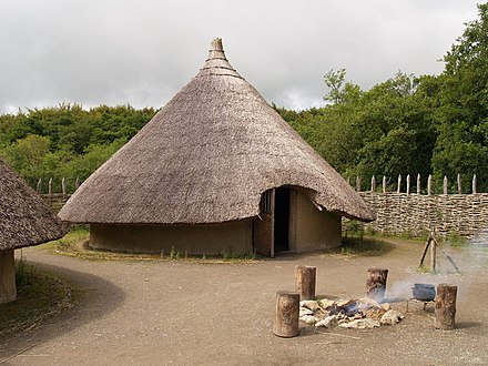 A reconstructed roundhouse and rath at Craggaunowen, County Clare Craggaunowen Project, The Crannog - geograph.org.uk - 793400.jpg