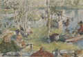 Crayfishing. From A Home (26 watercolours) (Carl Larsson) - Nationalmuseum - 24219.tif