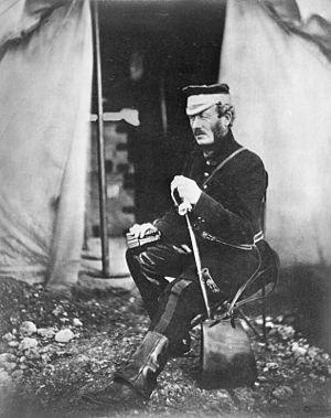 Richard Wilbraham - Colonel Richard Wilbraham, CB, outside his tent