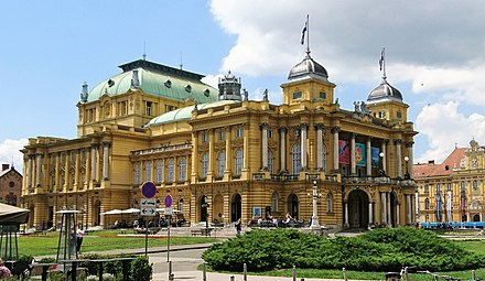 Croatian National Theatre Croatian National Theatre in Zagreb in 2018.jpg