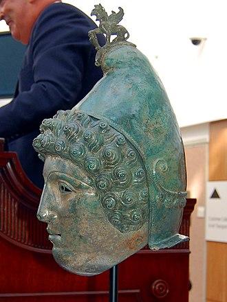 Crosby Garrett Helmet - Side view of the helmet.