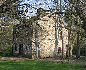 Fort Ancient (Lebanon, Ohio) - Stone building from 1802 operated as the Cross Keys Tavern from 1809-1820
