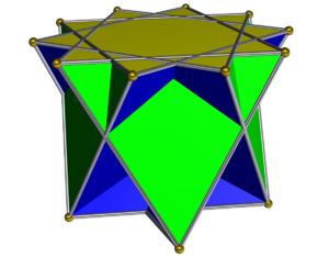 Crossed pentagrammic cupola