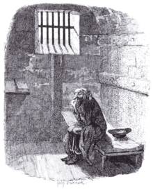 Cruikshank - Fagin in the condemned Cell (Oliver Twist)