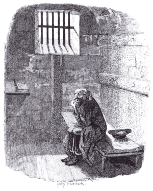 Oliver Twist (1948 film) - Cruikshank – Fagin in the condemned Cell