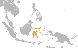 Sombre pigeon - Image: Cryptophaps poecilorrhoa range map
