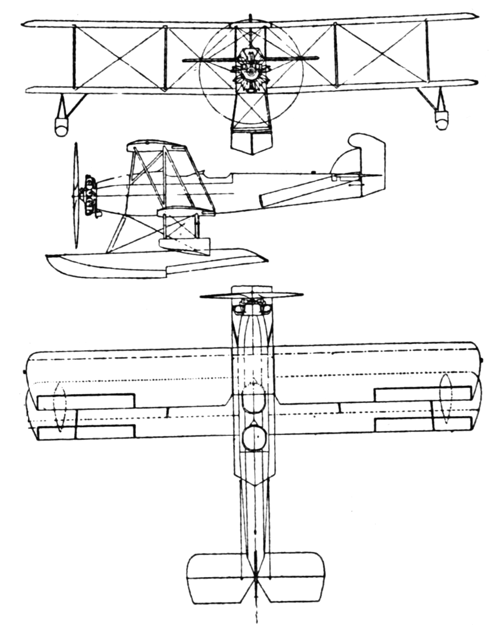 Curtiss XN2C-1 3-view Le Document aéronautique November,1928
