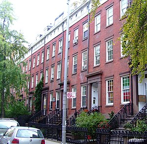 Chelsea, Manhattan - The Cushman Row, 406-418 W. 20th St., dates from 1840