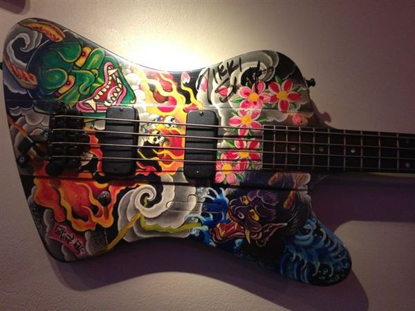 9dee9c15207bf Custom bass at the Hard Rock Cafe in Tampa, Florida, hand-painted by
