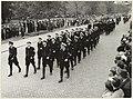 Défilé op de Dreef van de reserve politie gehouden op de Provinciale dag in 1955. NL-HlmNHA 54004252.JPG