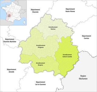 Arrondissements of the Dordogne department