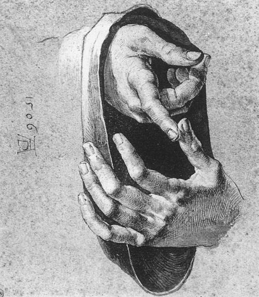 Dürer, Albrecht - Study of Hands - 1506