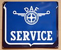 DAF service, Enamel advert sign at the den hartog ford museum pic-031.JPG