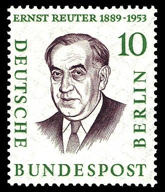 Deutsche Bundespost Berlin - Image: DBPB 1957 165 Reuter