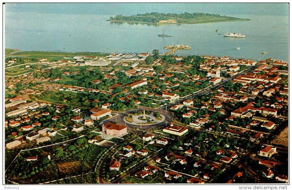 DC - Foto Serra No 142 - Vista aérea parcial e Ilhéu do Rei - Bissau