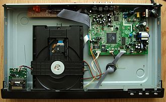 DVD player - The interior of a DVD player