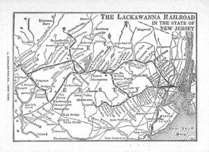 Morris and Essex Railroad - Image: DLW SUBURBAN NJ 19451028