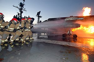 image of DOD mobile aircraft firefighting training device