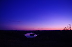 Pickett County, Tennessee - Twilight over Dale Hollow Lake, near Byrdstown
